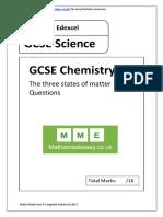 GCSE Chemistry AQA OCR Edexcel. States of Matter. Questions