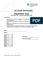 placement test jame cook