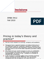 EMBA 5412 Pricing Decisions