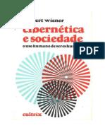 Cibernética e Sociedade - Norbert Wiener