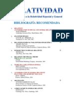 Bibliografía recomendada para un curso de relatividad especial y general