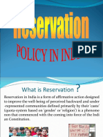 Reservation Policy in India