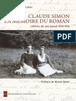 Claude SimonEXTRAIT