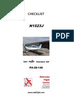 Checklist N1523J