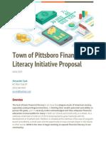 town of pittsboro financial literacy initiative proposal
