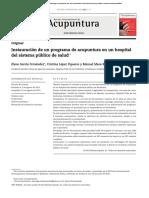 Articulo Elsevier Instauracion de Acupuntura en Sist de Salud Publica