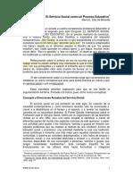 1961. El Servicio Social Como Proceso Educativo.