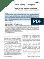 2013 - A Longitudinal Study of Memory Advantages in Bilinguals