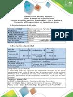 Guía de Actividades y Rúbrica de Evaluación –Fase 3. Analizar e Interpretar La Hidrogeología de Las Aguas Subterráneas