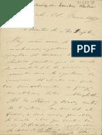 Manuscrito de Carta de Leopoldo Alas Clarin
