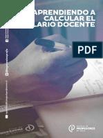 2019 Cuadernillo Salario Docente