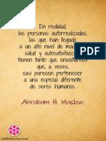Autorealización y Madurez