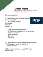 Cuestionario Cuarto Electrónica