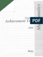 achievement test 2000 - solutions