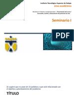 2.0 Seminario I - Desarrollo de Protocolo