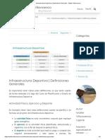 Infraestructura Deportiva _ Definiciones Generales - Walter Villavicencio