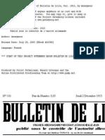 Bulletin de Lille - Publie Sous - 1ere Guerre Mondiale