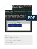 23 - Python PyQt (Interfaz gráfica) - QtSql MySQL y QTableWidget (Eliminar registros).docx