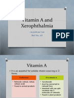 Vitamin A and Xerophthalmia