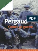 Carnet de Guerre - 1ere Guerre Mondiale