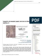 Iconografía, arte conceptual y popular, entre otros en la Revista ILLAPA Nro. 13