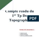 Compte Rendu Du 1er Tp TOPO