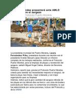 Laura Fernández presentará ante AMLO informe sobre el sargazo