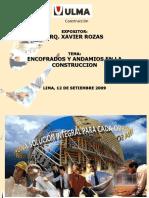 Presentacion de Encofrados y Andamios en Construccicon