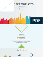 City Buildings Business PowerPoint Template