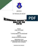 Kertas Kerja Sukan Tahunan Sekolah 2019