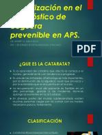 Actualización en APS. Cataratas y Pterigium