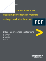 Installtion and operation of medium voltage switchgear