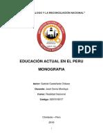 Educación Actual en El Perú - Gabriel Castañeda Chávez
