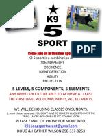 k9 5 sport poster