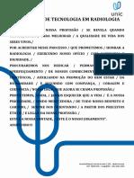 Juramento Tecnologo Em Radiologia