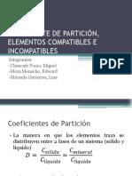 Coeficiente de Partición, Elementos Compatibles e Incompatibles