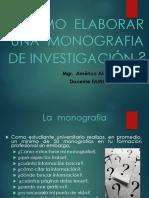 La Monografia y Exposicion