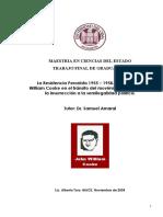 Alberto Toro - La Resistencia Peronista El Rol de JW Cooke