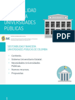 Sostenibilidad financiera Universidades Publicas SUE