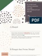 Fungsi Dan Peran Masjid Dalam Pengembangan Islam