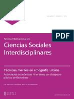 (pp. 35-48) Ies13_44316_Técnicas móviles en etnografía urbana. Actividades económicas itinerantes en el espacio público de Barcelona