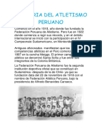 Historia Del Atletismo Peruano