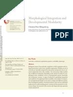Klingenberg 2008 Morphological Integration and Developmental Modularity