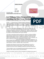 LG Williams Takes Responsibility For Anything On Mid-Term Election Night