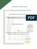 Ecuelas Campesinas Impacto en La Disponibilidad Alimentaria en Concepcion Papalo Oaxaca