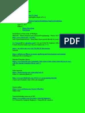 Addlcplusplusresources Docx C Computer Science