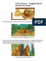 The Lion and the Mouse - English Short Stories for Kids