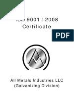 ISO Cert - All Metal