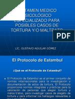 DICTAMEN MEDICO PSICOLÓGICO ESPECIALIZADO PARA POSIBLES CASOS DE TORTURA Y_O MALTRATO