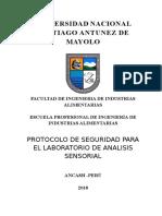 Protocolo de Seguridad Para El Laboratorio de Analisis Sensorial